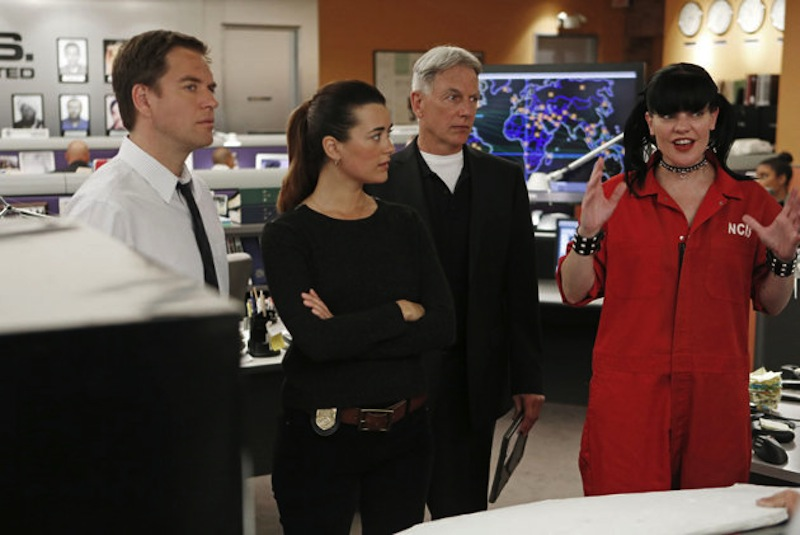 Pauley Perrette with cast