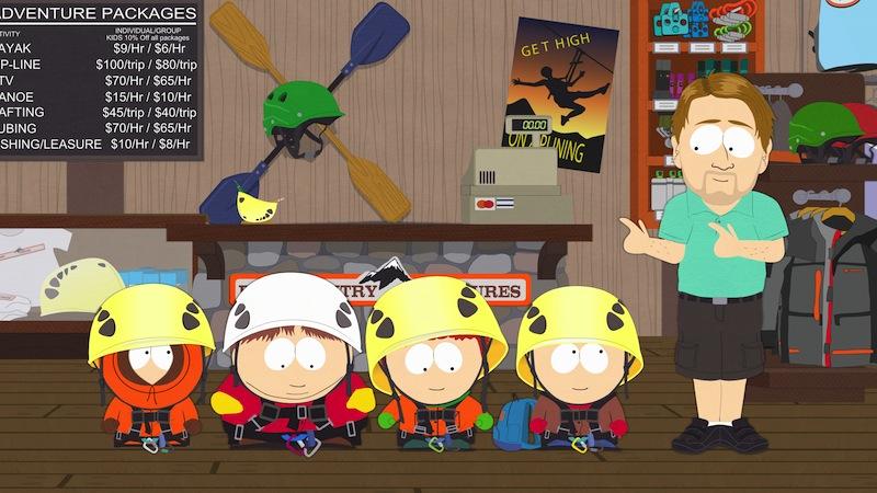 South Park ziplining