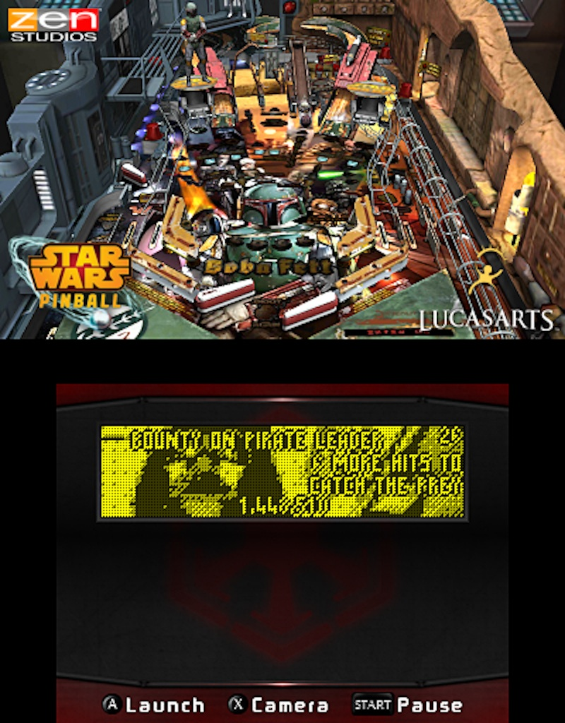 Star Wars Pinball for the 3DS Boba