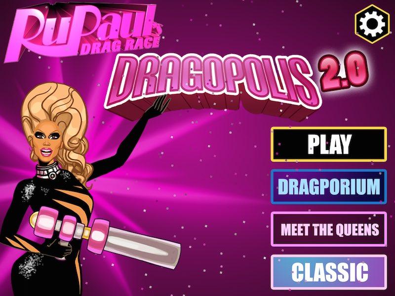 RuPaul's Drag Race Dragopolis 2.0 menu