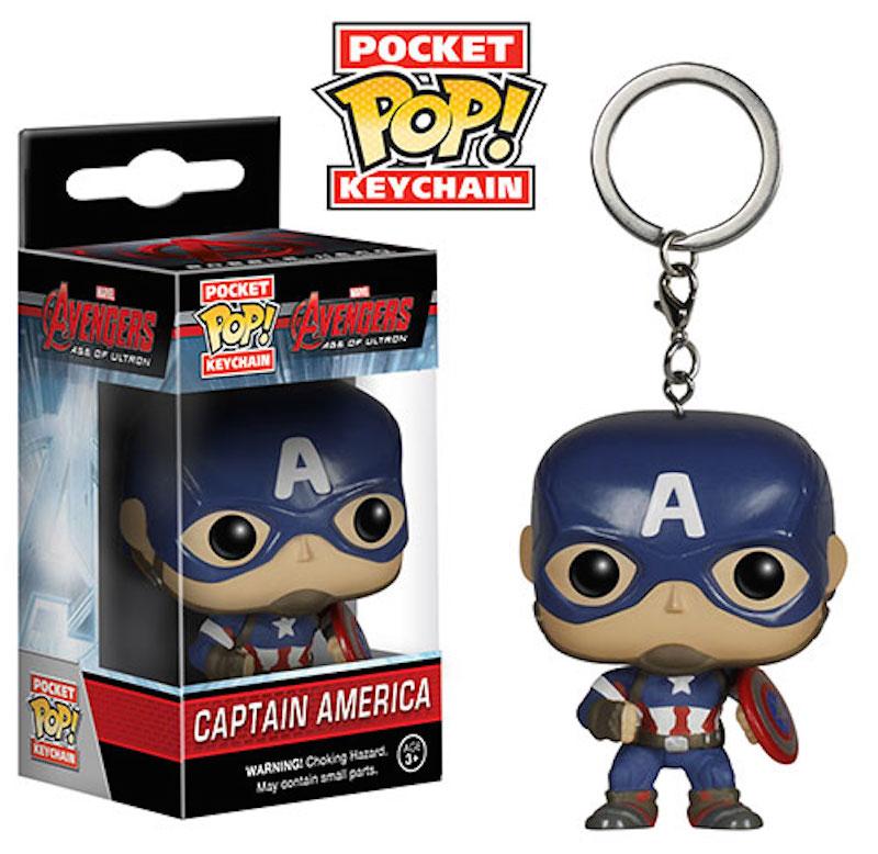 Funko Pop Keychain Avengers Age Of Ultron Captain America