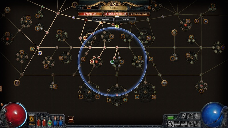 Path Of Exile The Awakening area of effect skill