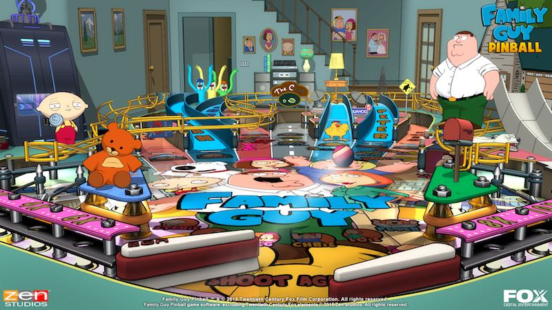Family Guy screenshot 02 Balls Of Glory Zen Pinball 2 Pinball FX Archer Family Guy Bobs Burgers American Dad