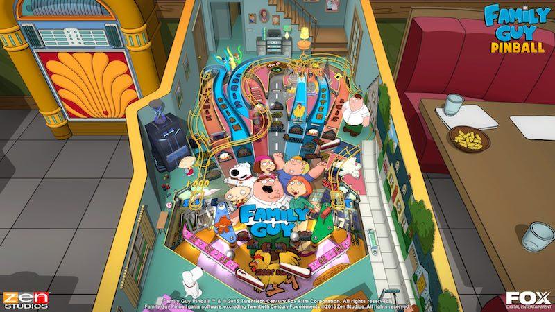 Family Guy screenshot Balls Of Glory Zen Pinball 2 Pinball FX Archer Family Guy Bobs Burgers American Dad
