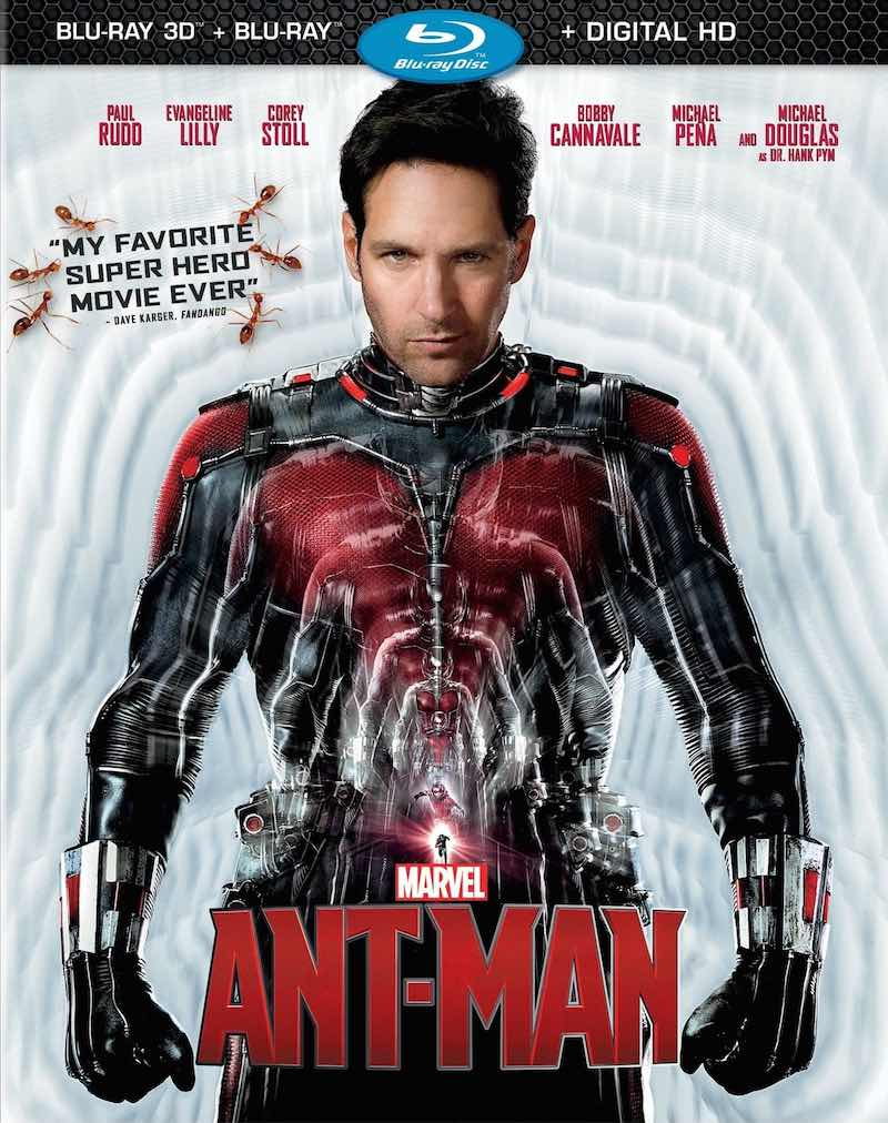 Ant-Man Blu-ray, DVD cover