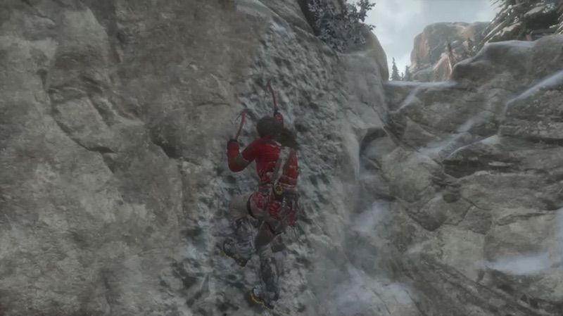 Rise Of The Tomb Raider rock climbing 02