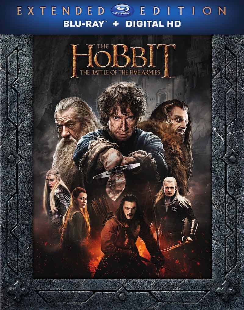 The Hobbit The Battle Of The Five Armies Extended Edition Blu-ray cover