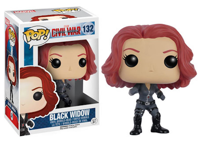 Funko POP! Marvel Captain America Civil War 132 Black Widow