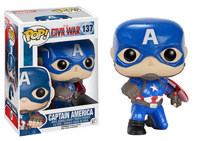 Funko POP! Marvel Captain America Civil War 137 Captain America action pose