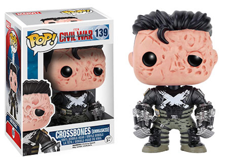 Funko POP! Marvel Captain America Civil War 139 Crossbones unmasked