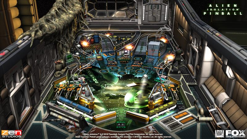 Alien Isolation table Alien Vs Pinball Zen Pinball 2 Pinball FX 2