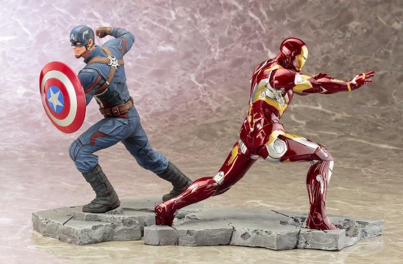 Kotobukiya ARTFX+ Captain America Civil War Iron Man facing opposite