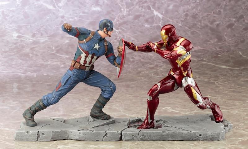 Kotobukiya ARTFX+ Captain America Civil War Iron Man mano a mano