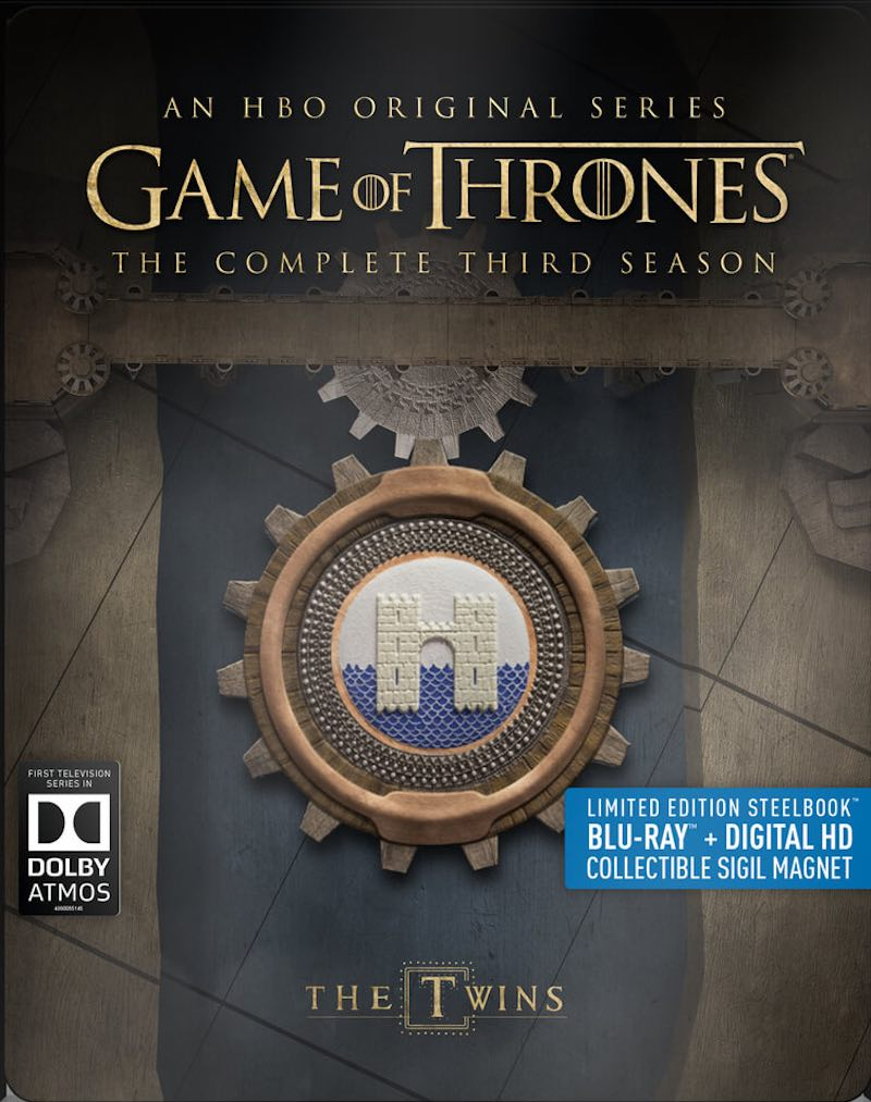 Game Of Thrones The Complete Third Season Steelbook Blu-ray cover