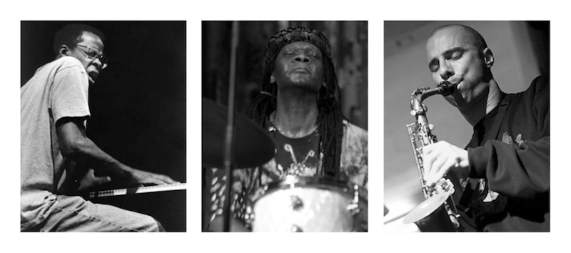 Mat Walerian Matthew Shipp Hamid Drake Live At Okuden group pic