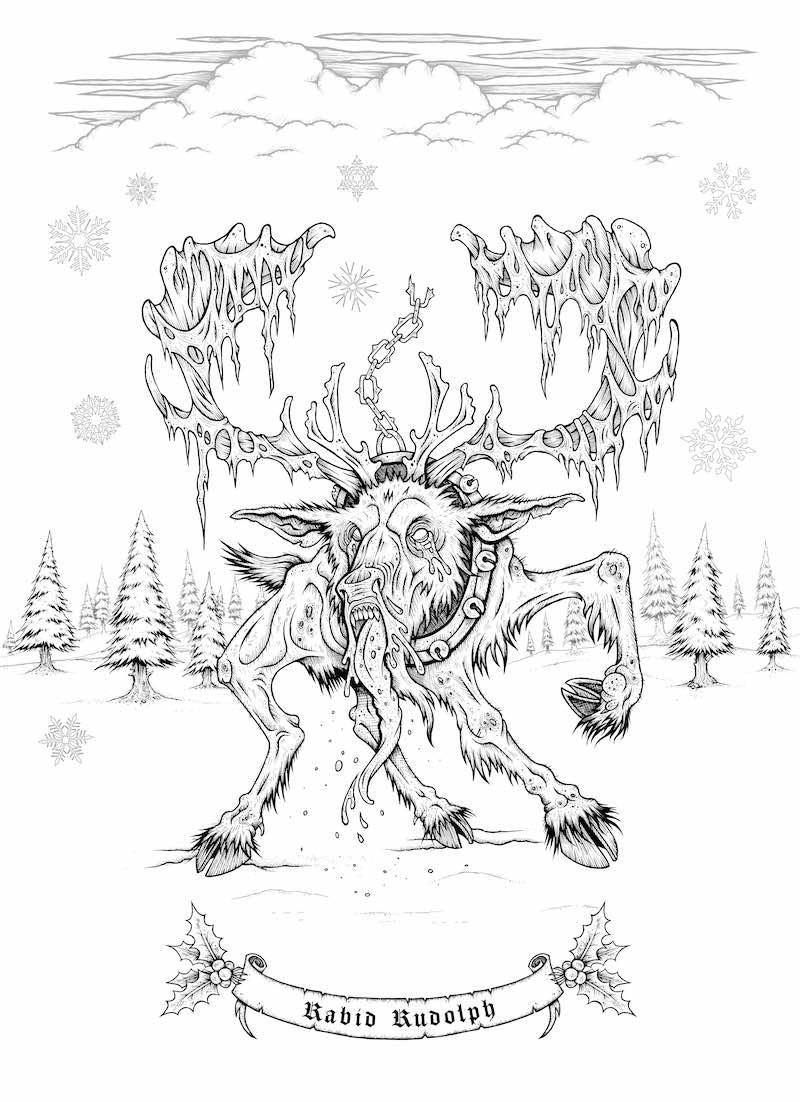 sam-shearon-mister-sam-shearons-creepy-christmas-a-merry-macabre-coloring-book-rabid-rudolph