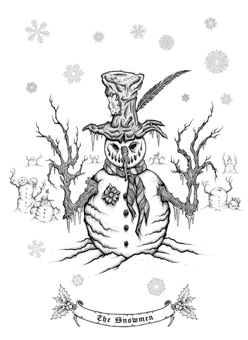 sam-shearon-mister-sam-shearons-creepy-christmas-a-merry-macabre-coloring-book-the-snowmen