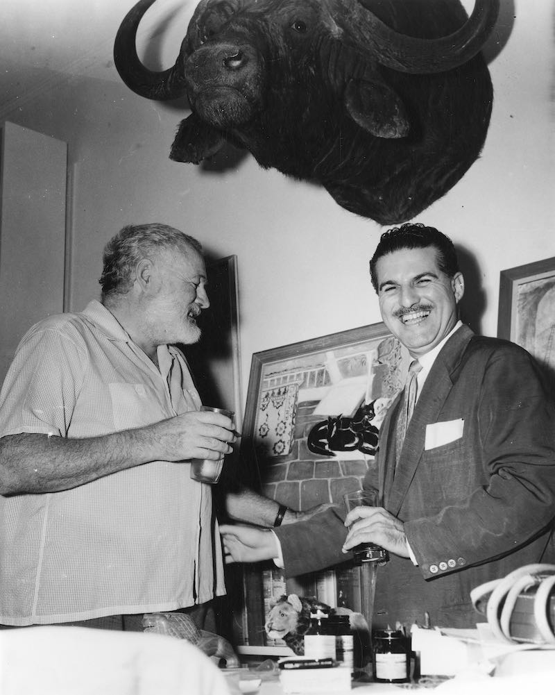 Hemingway and Fidel Castro after the former's fishing tournament.